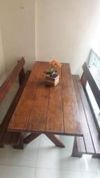 Mesa churrasco madeira Angelin maciça