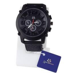 Relógio Analógico Masculino Premium Pulseira em Silicone Rsb10 Preto