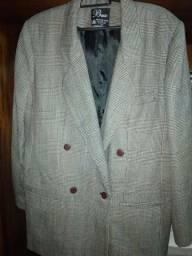 casaco lã xadrez