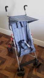 Carrinho de Passeio com Guarda-Chuva Pocket Multikids Baby Azul