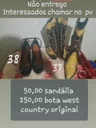 Bota west country original e sandália bebecê
