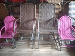 Título do anúncio: Cadeiras de balanço reforçada adultos e infantil