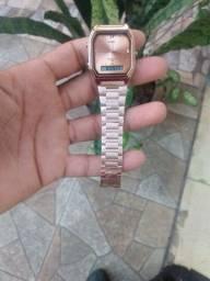 Relógio unissex skmei original aço inoxidável