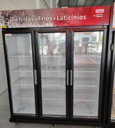 Auto serviço 3 portas Expositor Refrigerador  12 x 890,00 no cartão