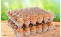 Ovos caipira bandeja com 30 unidades
