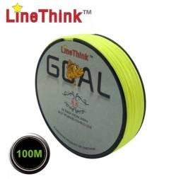 100m linha marca linethink linha de pesca trançada 2.0# 30lb