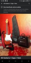 Vendo Kit Guitarra + Capa + Som