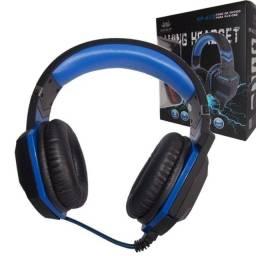 Fone Gamer Headset Azul Pc Ps4 Xbox One P2 Microfone Knup Kp-433- Rf informatica