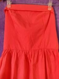 Título do anúncio: Vestido Coral - tomara que caia - usado