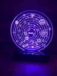 Luminária de Led Galáxia Personalizada