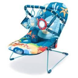Cadeirinha De Descanso Para Bebês Vibratória Musical Multikids Baby Azul Menino