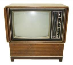 Televisão antiga vintage retro