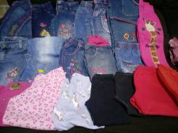 Lote de roupa pra menina entre 1 a 2anos