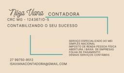 Título do anúncio: Nilza Viana Contadora | Serviços Especializados as Empresas MEI e Simples Nacional