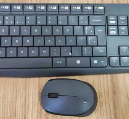 Teclado e Mouse Logitech MK235 wireless com conexão USB