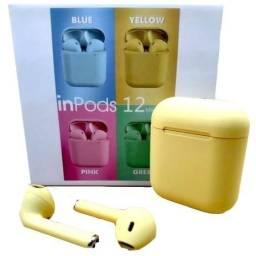 Inpods I12 Sem Fio Bluetooth Fones De Ouvido Colorido