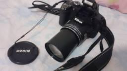 Câmera nikon super zoom 42x  p510
