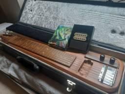 Título do anúncio: Guitarra Lap Steel Blues/Folk em Mogno One Piece com Case Rigido Luxo