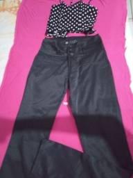 9 peças de calça , shorts, croped, blusas saía jeans, tam.38