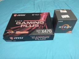 Kit Upgrade AMD Ryzen 7 2700x + MSI X470 Gaming Plus - Impecável