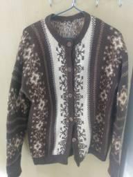 Blusa casaco feminino de lã
