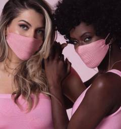 Máscaras tricô modal envio todo Brasil