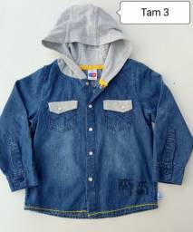 Título do anúncio: Camisa jeans menino Tam 3