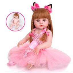 Bebe Boneca Baby Reborn Barato Grande Realista Completa