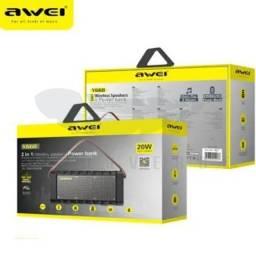 Caixa som Bluetooth awei Y668 20W PowerBank tws