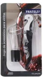 Título do anúncio: Kit Vinho Com 2 Peças - Saca Rolhas E Aerador - Fratelli