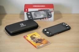 Nintendo Switch Lite Cinza + Jogo + Acessórios