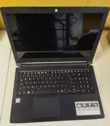 Notebook Acer i3-7020 4GB 1TB Seminovo com Mochila de Brinde