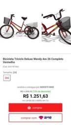 Bicicleta triciclo Wendy aro 26