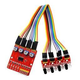 Sensor Linha Obstáculo 4 Vias Canais Arduino