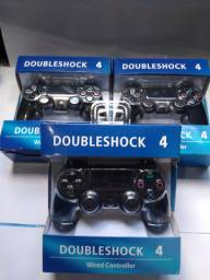 Controle PS4 double shock com fio