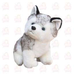 Cachorro Husky pelúcia super fofo