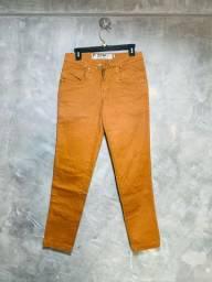 Calça jeans Skinny Caramelo