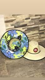 Chapéu de Palha Estampado
