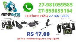 358 - Mini Termômetro Digital Lcd Temperatura Aquario