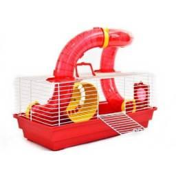 Gaiola de hamster bragança vermelha
