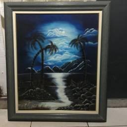 Quadro pintura manual a óleo