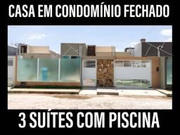 Casa com 3 suítes e piscina em Parnaíba