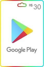 Cartão de presentes Google Play Store 30 reais