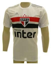 Camisa Adidas Oficial Sao Paulo branca ou listrada modelo 20/21 adulto