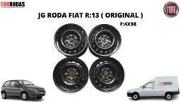 Jogo Roda Ferro 13 Original Fiat