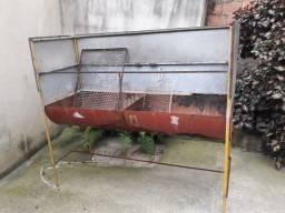 Título do anúncio: Churrasqueira de galão 2 andares a carvão