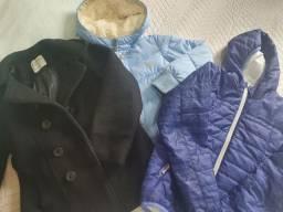 Lote menina jaquetas e vestidos