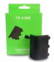 Bateria Para Controle Xbox One Com Cabo E Carregador
