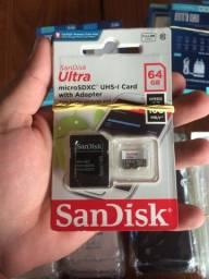 Cartão de memória 32 e 64 gb