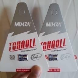 Cartão de memória Mizxa 64, 128 e 256 Gigas classe 10